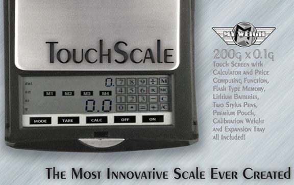 Camparing Size of Touchscale with the Palmscale